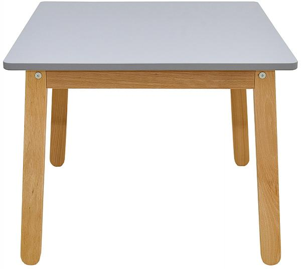 Bellamy Sivý detský stôl WOODY GREY