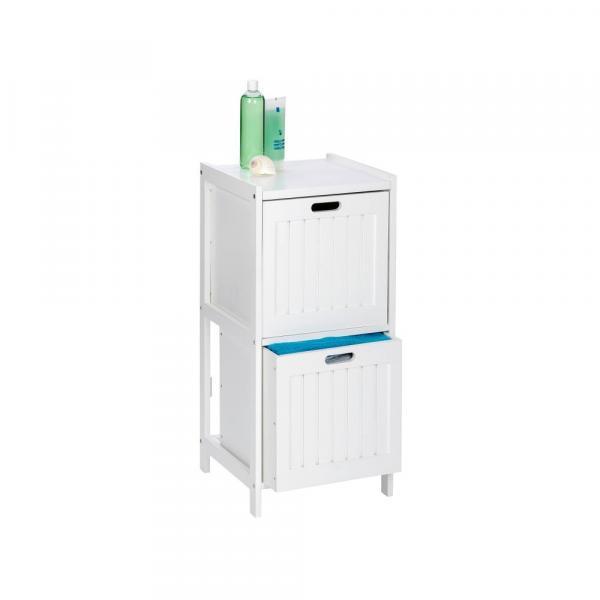 Biela drevená skrinka do kúpeľne s 2 zásuvkami Wenko Oslo