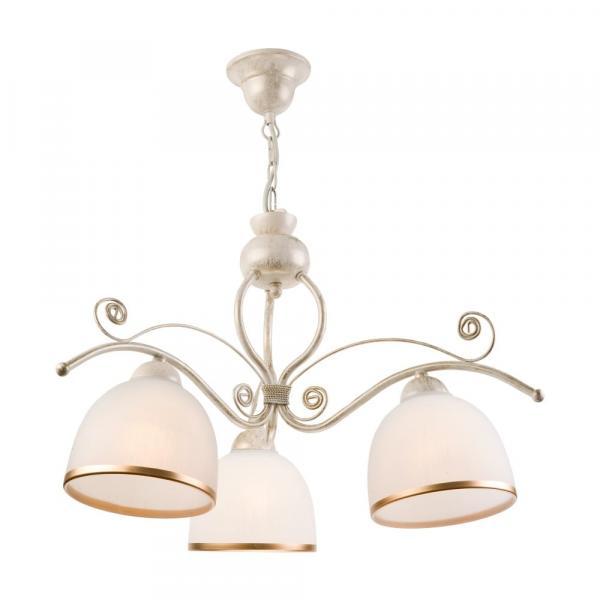 Biele závesné svietidlo pre 3 žiarovky Lamkur Retro