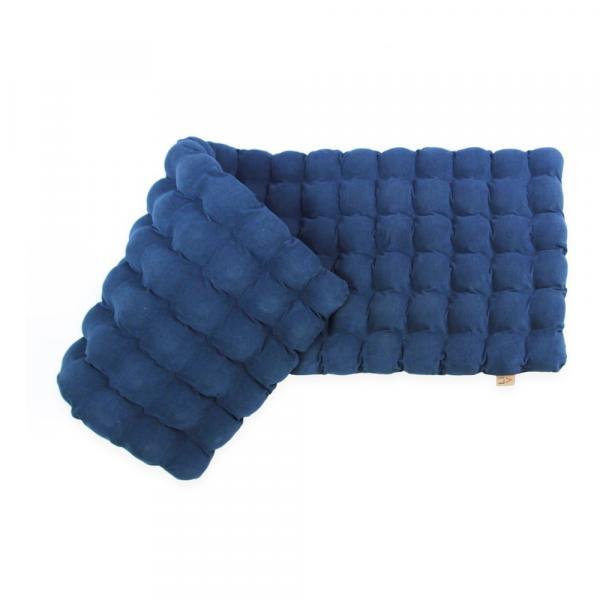 Červeno-fialový relaxačný masážny matrac Linda Vrňáková Bubbles, 65 × 200 cm