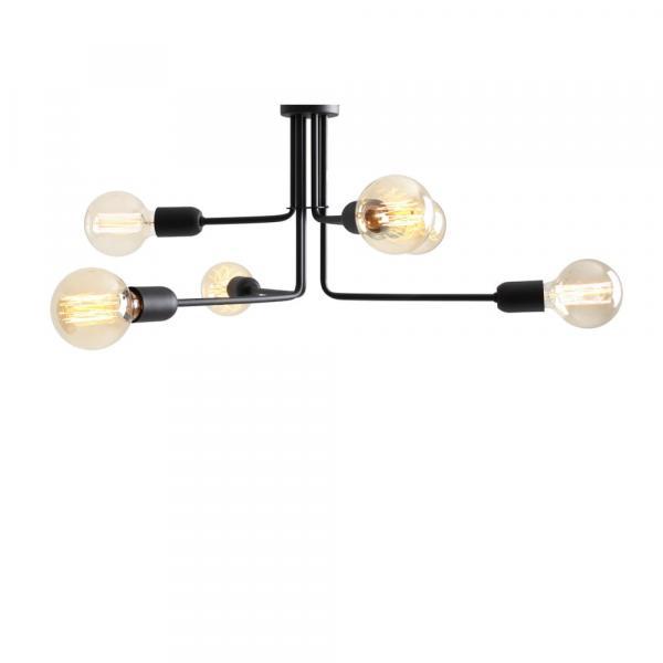 Čierne závesné svietidlo na 4 žiarovky Custom Form Vanwerk