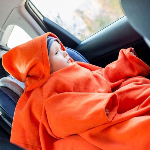 Deka s rukávmi Baby Wrapi – Oranžová