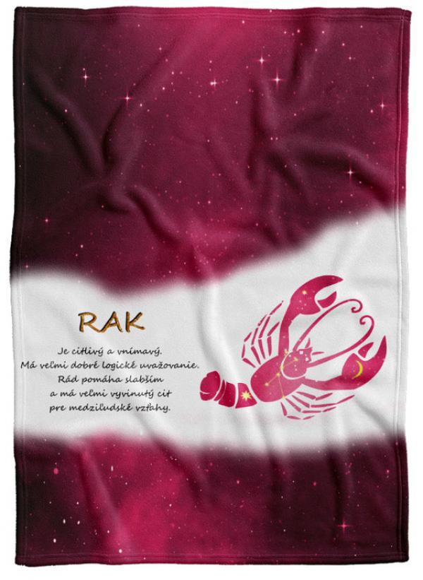 Deka Znamenie Rak (22.6. - 22.7.) - červená