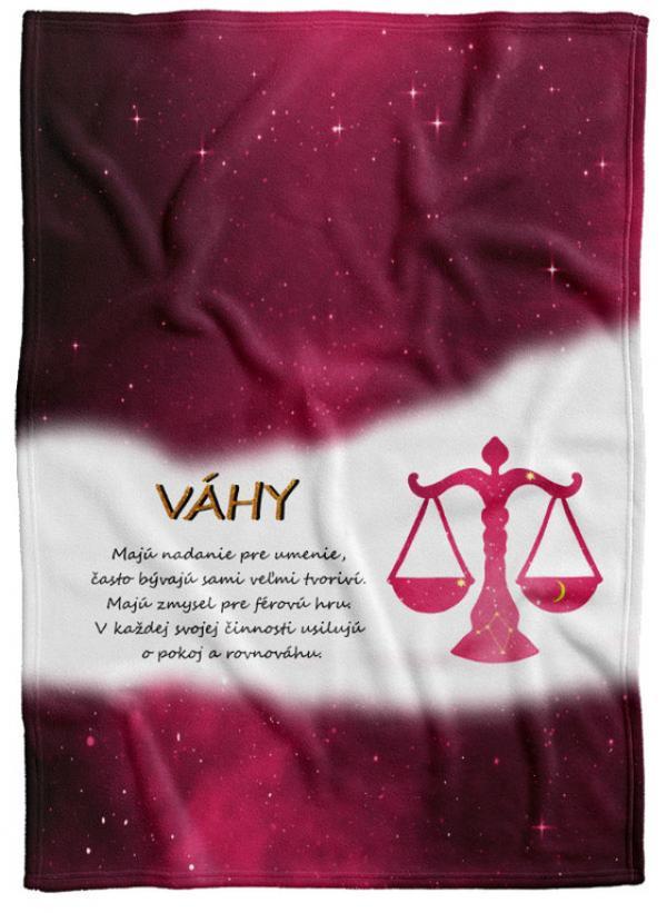 Deka Znamenie Váhy (23.9. - 22.10.) - červená