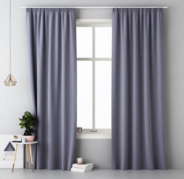 Dekoračný záves v tmavo sivej farbe 140 x 280 cm