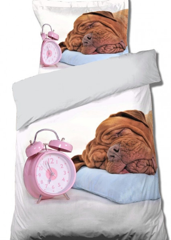 DomTextilu Posteľné obliečky so spiacim psíkom 2 časti: 1ks 160 cmx200 + 1ks 70 cmx80 Béžová 140x200 cm 22430-139790