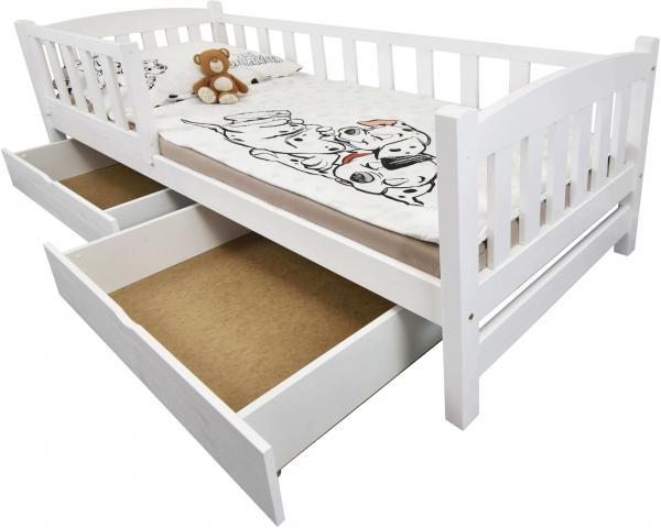 FA Detská posteľ so zábranou Oľga 2 - biela Rozmer lôžka: 200x90