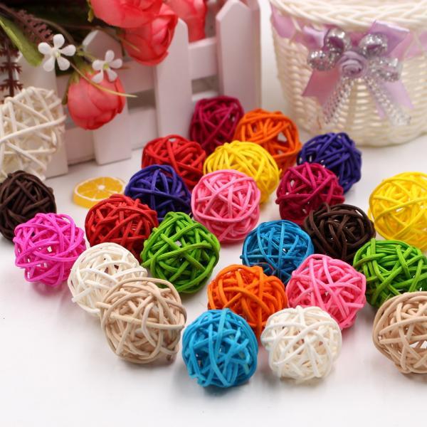 Farebné dekoračné loptičky - DIY - 10 kusov Farba: ružová