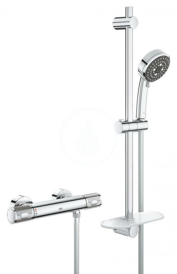 GROHE GROHE - Precision Feel Sprchový set 100 s termostatom, 3 prúdy, chróm 34791000