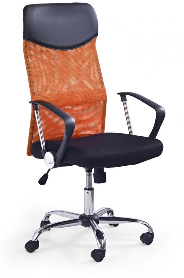 HALMAR Vire kancelárska stolička s podrúčkami oranžová / čierna