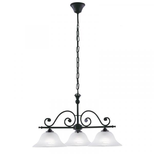 Interierové rustikálne svietidlo EGLO MURCIA biela / čierna  91005