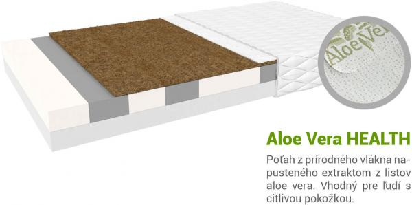 Jaamatrac Turner matrac s kokosom 200x120 Poťah: AloeVera Health (príplatkový poťah)