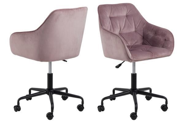 Kancelárska stolička Alarik ružová