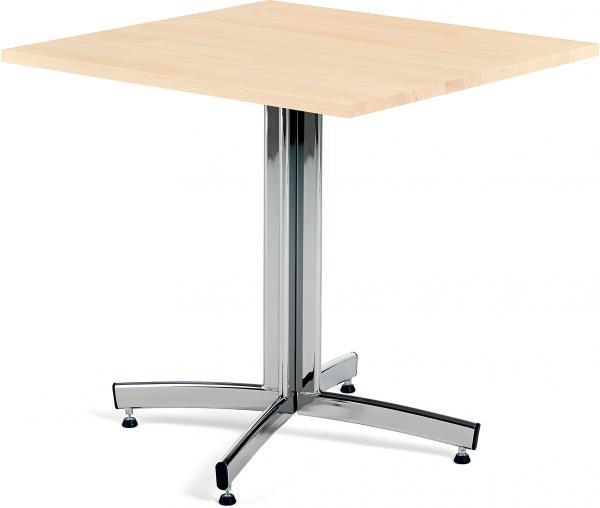 Kaviarenský stôl Sally, 700x700x720, buk, chróm