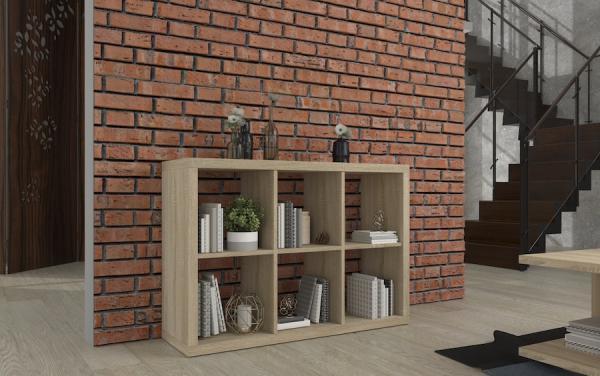 Knižnica do obývacej izby Wide
