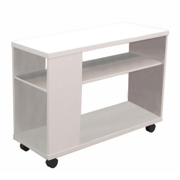 KONDELA Zoela New príručný stolík na kolieskach biela