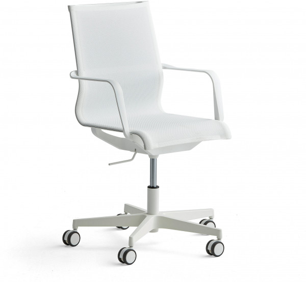 Konferenčná stolička Enfield, biela