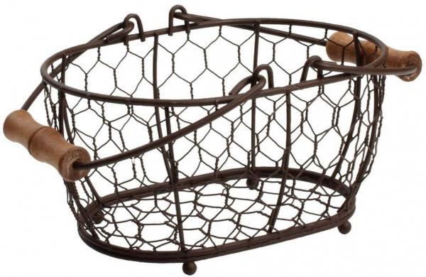 Kovový košík T&GWoodware Provence, 20×14cm
