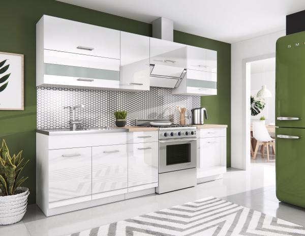 Kuchyňa - Renar - Rio 240 cm (biela + lesk biely). Sme autorizovaný predajca Renar.