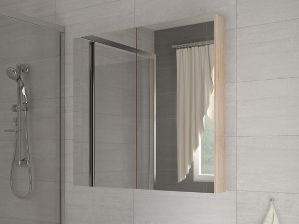 e347d7cd8 Kúpelňová skrinka na stenu - WIP - Della 80 dub sonoma svetlý + zrkadlo. Sme