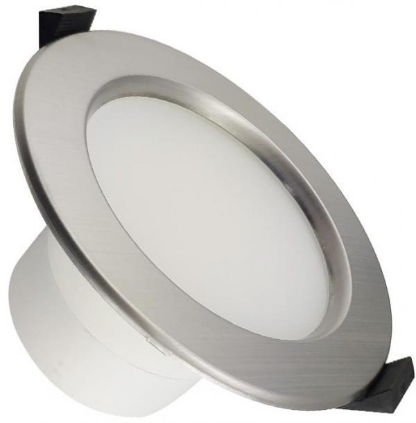 LED Kúpeľňové podhľadové svietidlo LED/10W/230V 4000K strieborná IP44