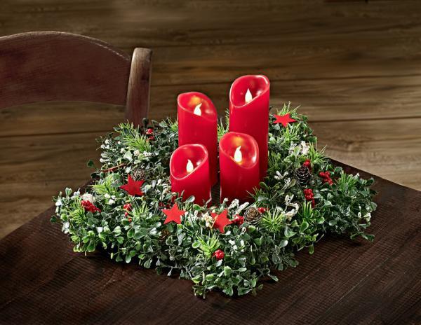 Magnet 3Pagen Adventný veniec se sviečkami