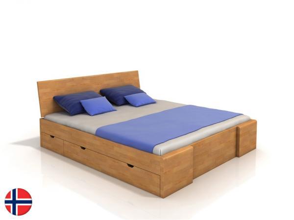 60c8ab591dbbd Manželská posteľ 180 cm - Naturlig - Blomst High Drawers (buk) (s roštom