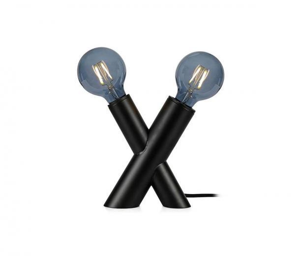 Markslöjd 108052 - Stolná lampa SIMUL 1xE27/40W + 1xE14/40W/230V čierna