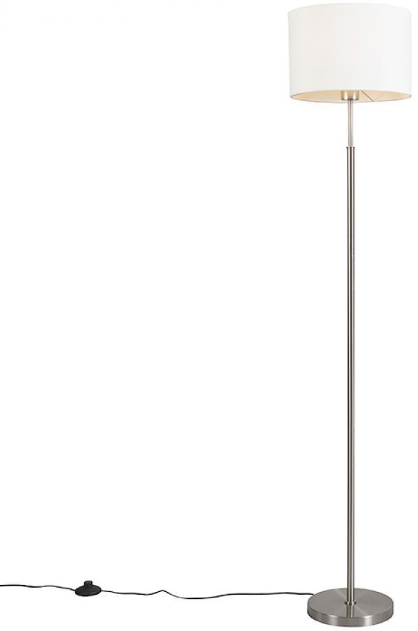 Moderná stojaca lampa biela okrúhla - VT 1