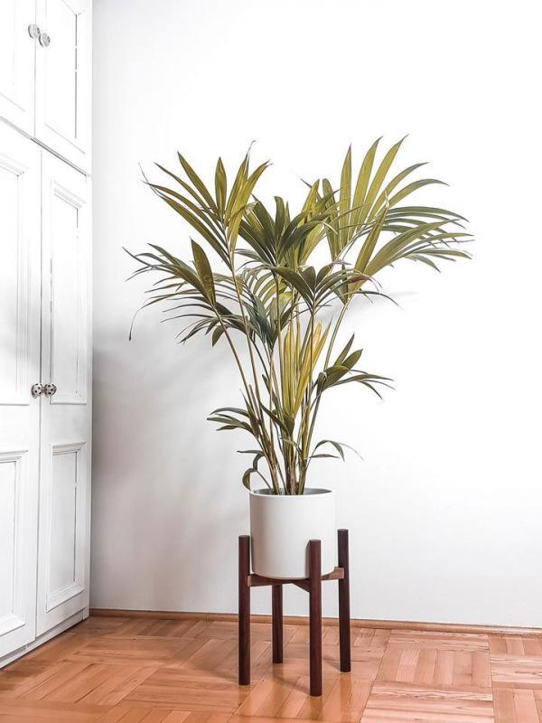 Oaky Drevený retro stojan na kvetináč Priemer: 22,5 cm, Materiál: Dub
