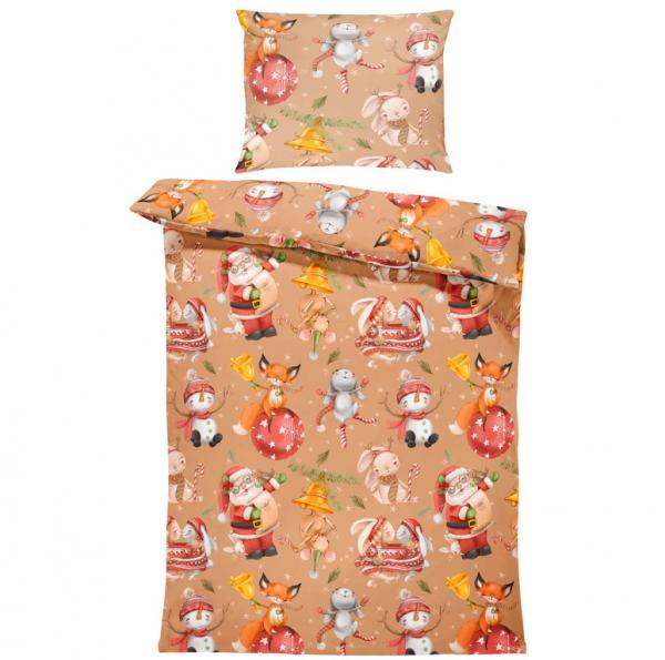 Obliečky Vianočné zvieratá (Rozmer: 1x140/220 + 1x90/70)