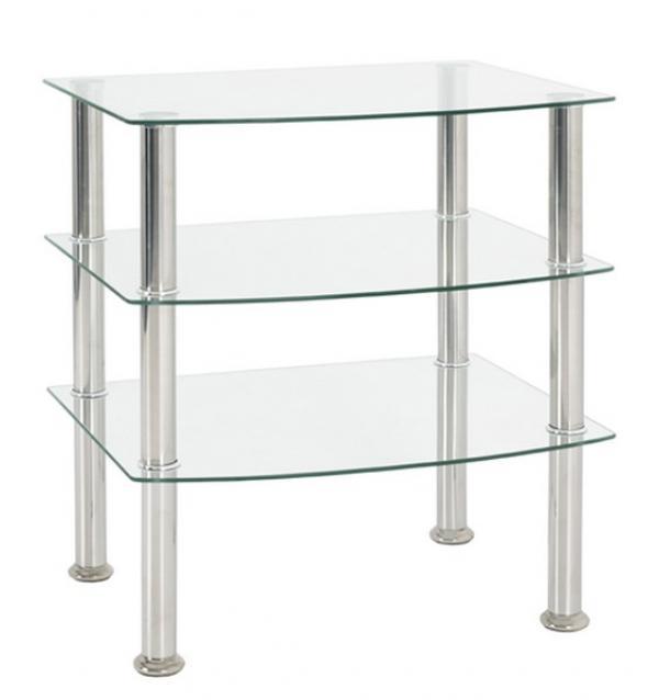 Odkladací stolík Katja 3, čiré sklo
