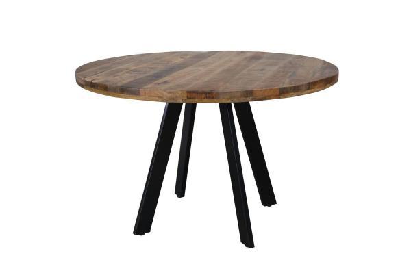 Okrúhly jedálenský stôl Thunder, 120 cm, mango