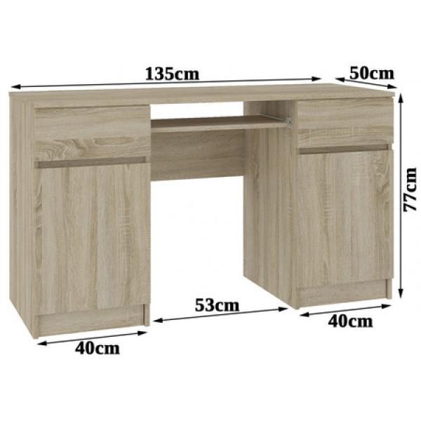 Počítačový stôl A5 dub sonoma