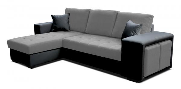 Rohová sedačka - Po-Sed - Thema Lux L+2F (I91 sivá + B110 čierna) (L). Akcia -14%. Doprava ZDARMA. Sme autorizovaný predajca Po-Sed.