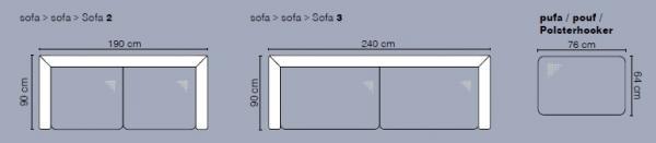 Stagra Sedacia súprava Wenecja 3+2 Prevedenie: Sedacia súprava 3+2