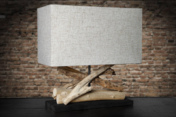 Stolná lampa Adela béžová