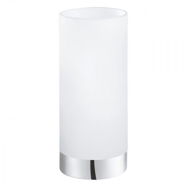 Stolové svietidlo EGLO DAMASCO 1 biela / chróm 95776