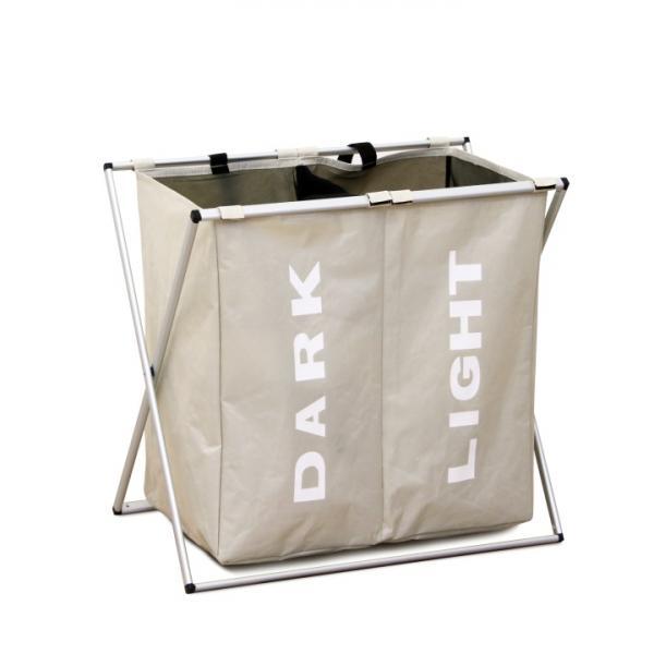 TEMPO KONDELA Laundry Typ 2 kôš na prádlo sivobéžová