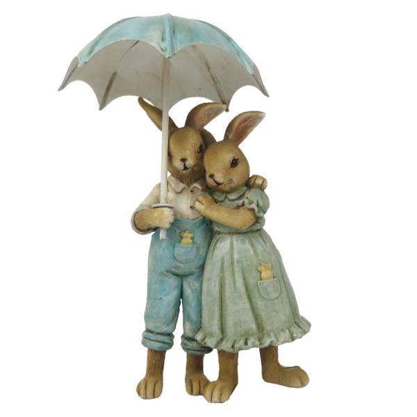 Veľkonočné dekorácie králikov pod dáždnikom - 8 * 4 * 14 cm