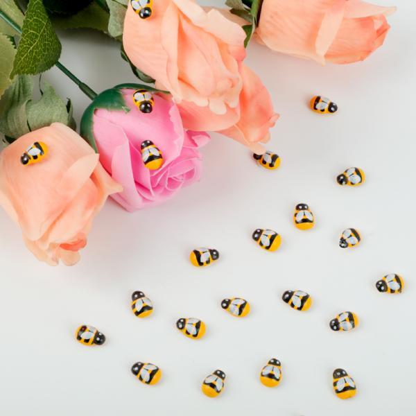 Veľkonočné dekorácie v tvare včielky - 100 ks