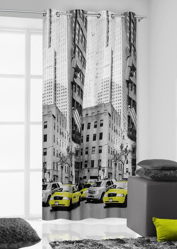Záves 140x250 cm Manhattan (popolavá)
