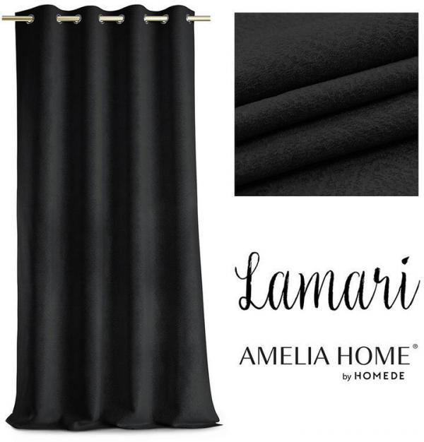 Záves BLACKOUT LAMARI čierny 140 x 250 cm sada 2 ks