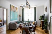 Retro pohovka, kreslá a stoličky s jednotným čalúnením