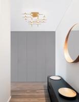 Moderné zlaté stropné svietidlo