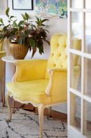 Žlté vintage krelo