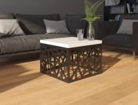 Dizajnový čiernobiely konferenčný stolík