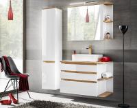 Biela kúpeľňová zostava s vysokým leskom
