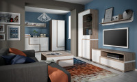 Moderná obývačka s 3D kobercom