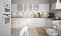 Klasická kuchynská linka v matnej bielej farbe